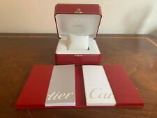 Genuine Cartier Tank Basculante watch box set for collectors