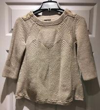 Ann Taylor Sz M Petite Sweater Scallop Edge Chevron Angora Wool Cottagecore