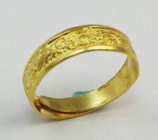 24K Solid Gold Dragon Phoenix Ring 3.7 Grams Size 8.5 (Adjustable)