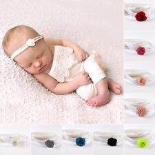 9pcs/ lot Newborn Baby Infant Girl'sToddler Elastic Flower Headbands Hairband