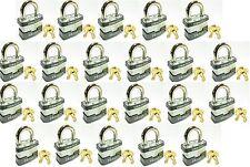 Lock Set by Master 3KA (Lot 22) KEYED ALIKE Commercial Steel Laminated Padlocks