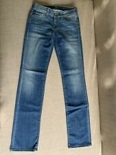 7 For All Mankind Women's Straight Leg Jeans Size 25 x 32 Mid Rise Stretch