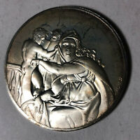 The Delphic Sibyl The Genius of Michelangelo 1.26oz Sterling Silver Medal