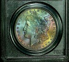1888-O PCGS MS64 Morgan Dollar Amazing Rainbow Color Toning & Luster! Key Date