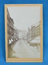1870s CDV Carte De Visite Photo Vienna The Graben & Hotel Wien Miethke & Wawra