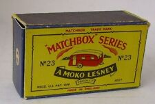 REPRO BOX MATCHBOX 1:75 n. 23 Trailer Caravan più vecchi (Berkeley cavalier trailer)