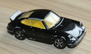 Vintage Corgi Juniors PORSCHE 911 CARRERA Black 1/64 Scale Diecast Toy Car