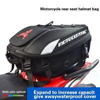 Helmet bag Waterproof Motorcycle Rear Seat Saddlebag Tail Bag Travel Backpack