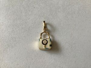 Links of London 18K yellow gold and enamel lunch bag charm