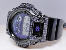 Mens G Shock/ G-Shock Purple Simulated Diamond Watch DW6900MF-1
