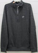 Dallas Stars NHL Men's Pullover Jacket Shirt 1/4 Zip Hockey Gray L Large New