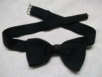 Vintage Bow Tie MENS Dickie Bowtie 1950s 1960s TRADITIONAL BUCKLE BLACK