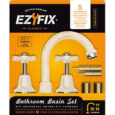 Ezyfix CLASSIC BASIN SET Universal Retrofit, WELS 5 Star Rated IVORY *Aust Brand