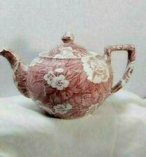 "Vintage BURLEIGH Staffordshire England Victorian Chintz Teapot 6"" diam. EUC"