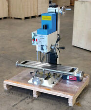 PM-30-MV VERTICAL BENCH TOP MILLING MACHINE w/ 3 AXIS DRO INSTALLED AND STAND