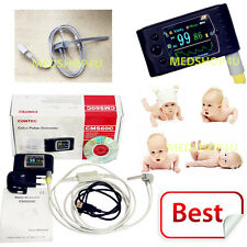 New Neonatal Infant Pediatric Kids Born Pulse Oximeter Spo2 Monitor Usb Cms60c
