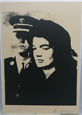 After Andy Warhol: Jackie Kennedy Print Signed Andy Warhol