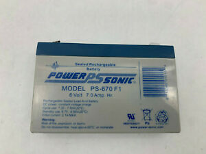Power Sonic PS-670F1 NNB 6V 7 Amp Hr Battery See Pics #A64