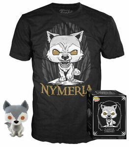 FUNKO POP e TEES GAME OF TRONES NYMERIA T-Shirt LARGE X GOT POT TEE BOX