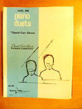 Glover David CarrJazz and Duets for Piano Lot of 2 Books -D
