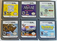 DS Game Lot 6 Game Cards - Naked Band Golden Compass Loser Smoking Aly Sonny