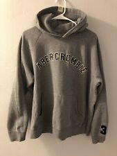 Abercrombie & Fitch Men's Vintage Style Pullover Hoodie Size Medium Grey/Blue