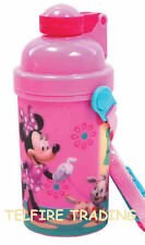 DISNEY MINNIE MOUSE CHILDS KIDS FLIP TOP FLASK DRINKS JUICE WATER BOTTLE NEW