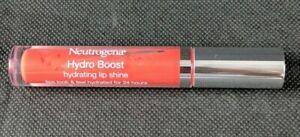 Neutrogena Hydro Boost Hydrating Lip Shine Hyaluronic Acid 65 Bright Poppy New