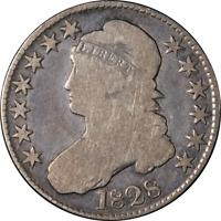 1828 Bust Half Dollar Curl Base No Knob 2 Choice VG 0-103 R.2 Superb Eye Appeal