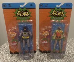 "Retro Batman Classic 66 TV Series BATMAN & ROBIN 6"" Figure SET McFarlane -"