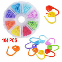 104x Amazing Knitting Crochet Locking Stitch Needle Clip Markers Holder Tool Set