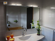JOANA LED LEUCHT LAMPE BELEUCHTETER SPIEGEL MIT STEILFACETTE 140x75CM 2 LAMPEN