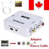 HDMI To AV RCA CVBS 1080P Upscaler Composite HDTV Audio Video Adapter Converter