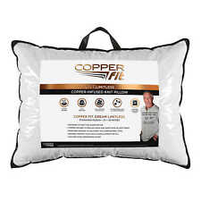 Copper Fit Dream Limitless Standard Queen Pillow 20 x 28 Infused Knit