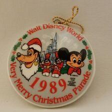 Walt Disney World 1989 Very Merry Christmas Parade Porcelain Tree Ornament