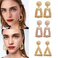 1 Pair Vintage Women Geometric Pendant Dangle Drop Statement Earrings Jewelry