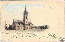 50 - cpa - ST LO - L'église Sainte Croix