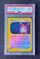 Pokemon PSA 9 Wigglytuff Reverse Foil Skyridge #34/144 English Mint