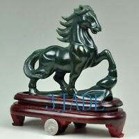 Natural Nephrite Jade Horse Statue / Sculpture /Carving Hand Carved Gemstone