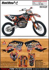 BADBOY Motocross Graphics KTM  SX & SXF 2007-2010 Dirt Bike Decal Sticker Kit