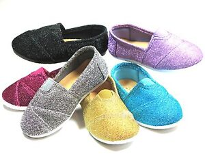 Glittery SlipOn Flats For Baby Toddler Girls Sizes 4 5 6 7 8 9  Six Colors