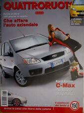 Quattroruote 578 2003 Ford Focus C-Max. La Punto del 2005. BMW 320 CD.  [Q.61]