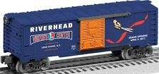 discontinued lionel 6-52571 Riverhead Visitor's Center blue boxcar new in the bo