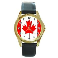 CANADA CANADIAN MAPLE FLAG ROUND WRISTWATCH **SUPERB ITEM**