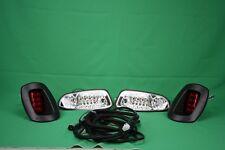 EZGO RXV Golf Cart LED Headlight & Tail light Kit Deluxe Street Package