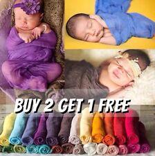 Girl Boy Newborn Cheesecloth Wrap Baby Newborn Photography Prop Backdrop