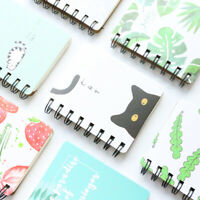 Portable Notepad Mini Spiral Portable Student Memo Planner Journal Notebook