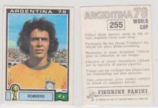 Panini sticker World Cup 1978 Argentina unused #255 Roberto Brazil