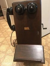 Antique  Northern Electric Hand Crank oak Wall Telephone -  made in Canada