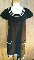 Ladies black shift dress black size 10